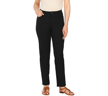 As Is Isaac Mizrahi Live Petite 24 7 Stretch 5 Pkt Ankle Pants