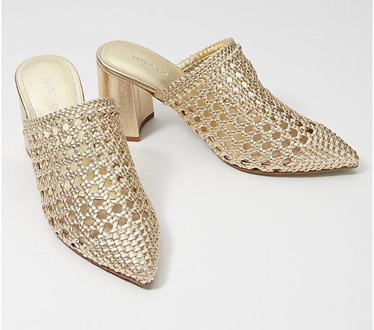 Marc Fisher Woven Mules - Relly