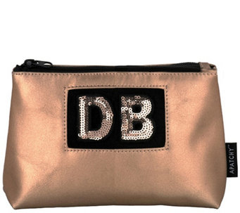 Apatchy London Personalized Small Pouch in Blush Gold - A420236 9cba3cf379
