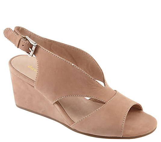 David Tate Wishbone Covered Wedge Sandals - Harlem