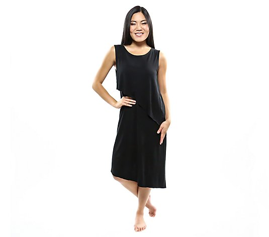 skinnytees Sleeveless Asymmetrical Dress