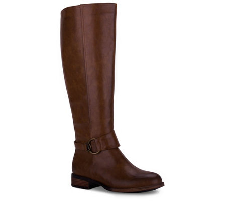 Wanted Harness Detail Tall Riding Boots - Garret