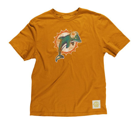 online store 72a10 ac8ed NFL Miami Dolphins Youth (8-20) Better Logo Tissue T-Shirt — QVC.com