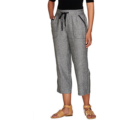 Liz Claiborne New York Jackie Linen Crop Pants
