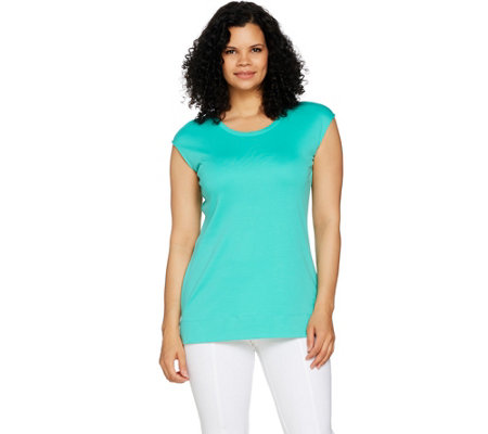 Isaac Mizrahi Live! Essentials Pima Cotton Scoop Neck Tunic