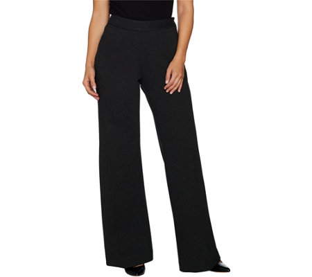 G.I.L.I. Regular Wide Leg Milano Ponte Trouser