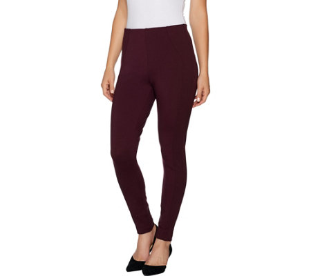 Kelly by Clinton Kelly Petite Ponte Pull-On Ankle Pants w/ Seams