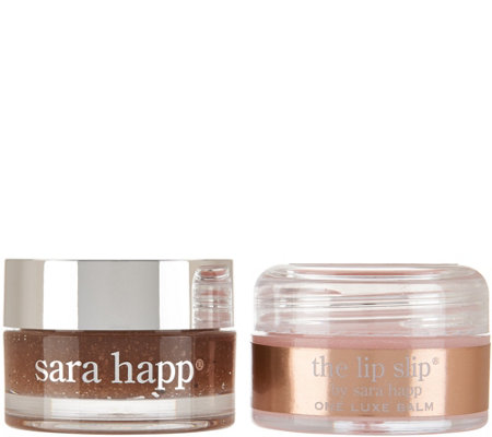 Sara Happ Exfoliating Lip Scrub & Lip Slip Duo