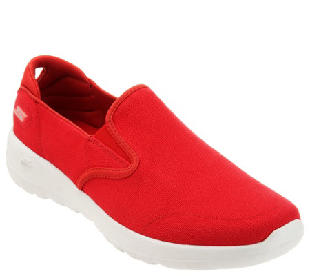 Skechers Go Walk Joy Canvas Slip On Shoes Shine