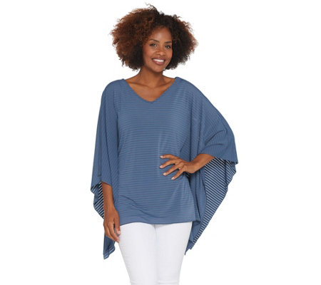 Attitudes by Renee Shadow Stripe Caftan with Tank