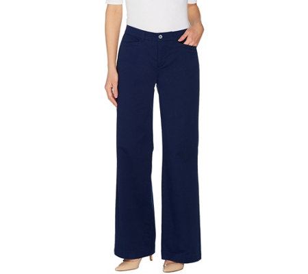 Martha Stewart Regular Chino Wide Leg Fly Front Pants