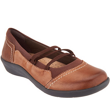 Earth Origins Leather Slip-On Flats - Leslie - A311337
