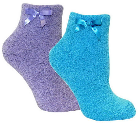 MUK LUKS Women's Chenille Slipper Sock 2 Pair Pack