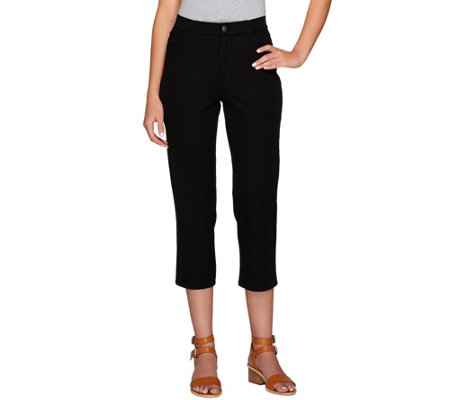 As Is Isaac Mizrahi Live Petite 24 7 Stretch 5 Pkt Crop Pants