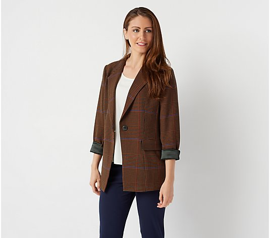 Linea by Louis Dell'Olio Plaid Blazer
