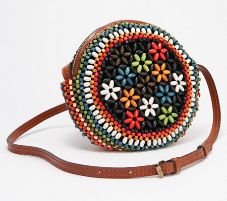 68be755e38226 Patricia Nash Leather Beaded Circle Crossbody Bag - Scafati - Page 1 ...
