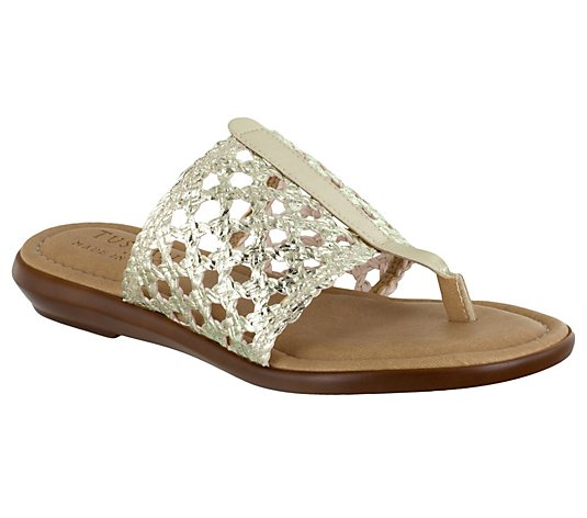 Tuscany by Easy Street Woven Thong Sandals - Carlina