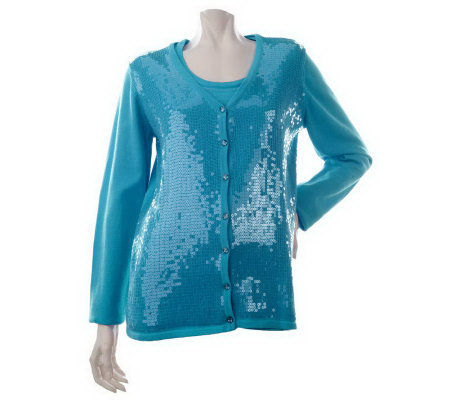 Quacker Factory Sequin Embellished Twinset