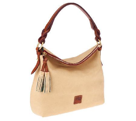 Dooney Bourke Floine Leather Twist Strap Hobo Bag Qvc