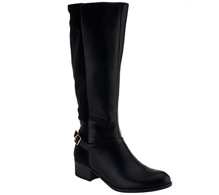 Liz Claiborne New York Riding Boots with Buckle Detail