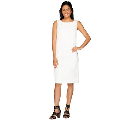 Susan Graver Chelsea Stretch Scoop Neck Sleeveless Dress