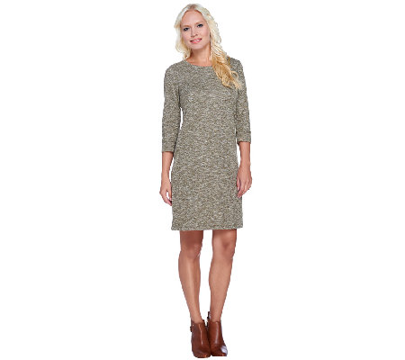 Isaac Mizrahi Live! SOHO Textured Jersey Dress