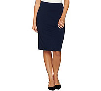 Dennis Basso Ponte Knit Pencil Skirt - A288738