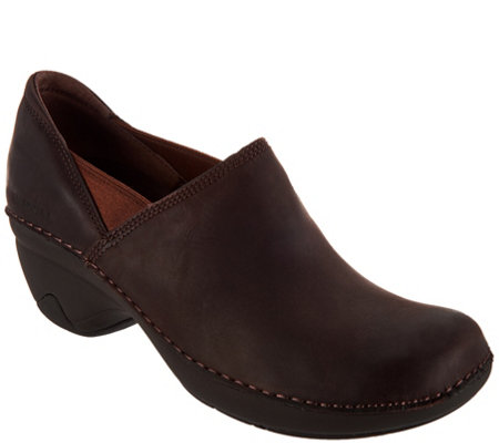 Merrell Water Resistant Leather Slip-On Shoes - Emma Leather