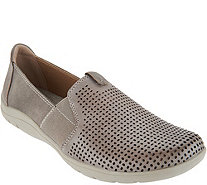 Earth Origins Perforated Leather Slip-On Shoes - Melissa store sale Ra0bsk