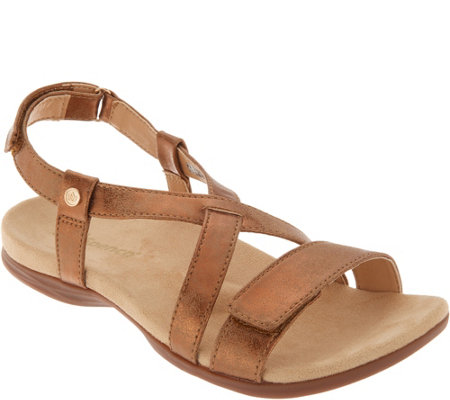 Spenco Orthotic Cross Strap Sandals - Grace