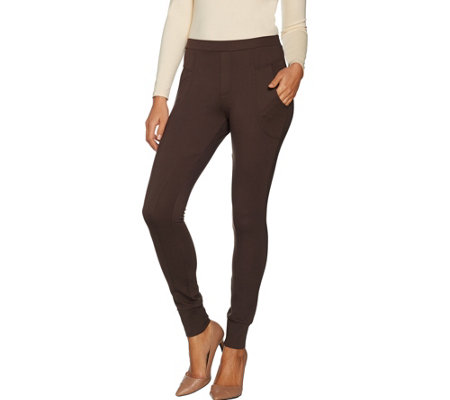 """As Is"" Du Jour Pull-On Ponte Knit Leggings with Pockets"