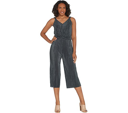 Lisa Rinna Collection Twist Front Sleeveless Jumpsuit