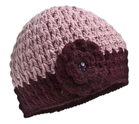 Nirvanna Designs Women's Crochet Flower Hat