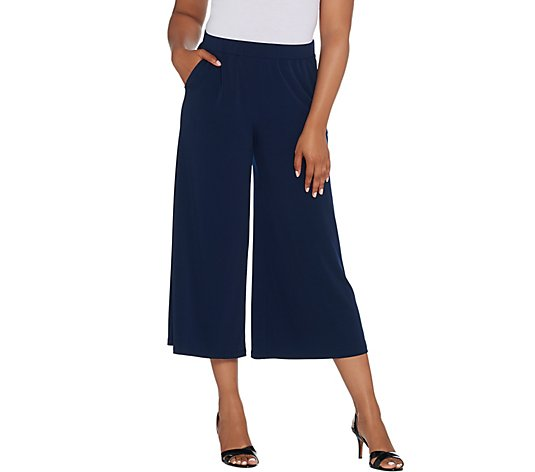 """As Is"" Every Day by Susan Graver Liquid Knit Pull-On Culotte Pants"