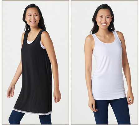 Attitudes by Renee Como Jersey Tunic with Tank