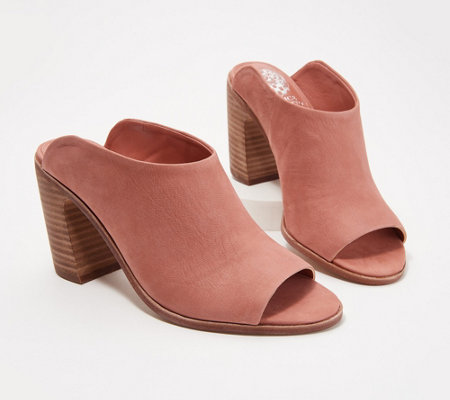 cb9969f679af Vince Camuto Peep-Toe Mules - Mesella - Page 1 — QVC.com