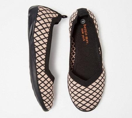 Bernie Mev Diamond Knit Flats Catwalk X