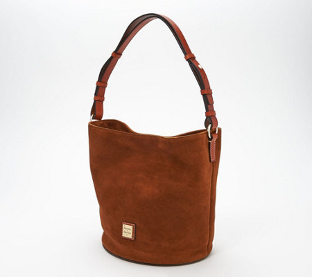 Dooney Bourke Suede Feed Bag Thea Qvc