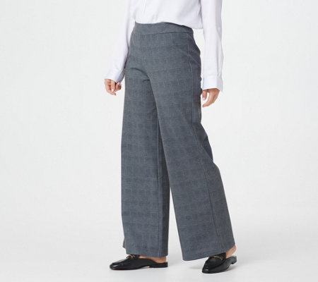 Joan Rivers Plaid Pull-On Full Length Pants
