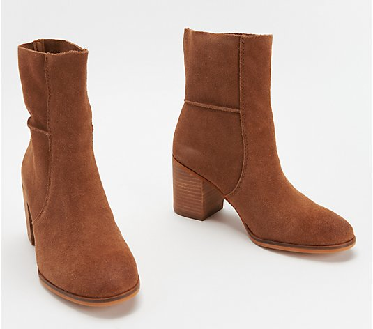 frye & co. Suede Slouch Mid Boots - Phoebe