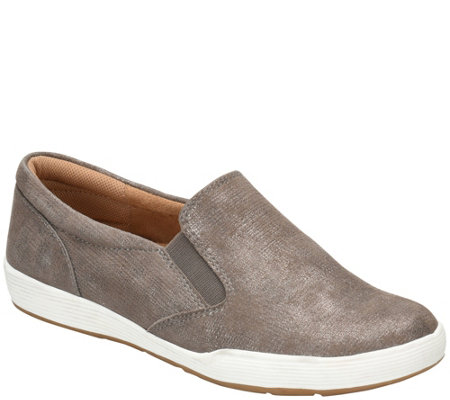Comfortiva Leather Slip Ons - Linette