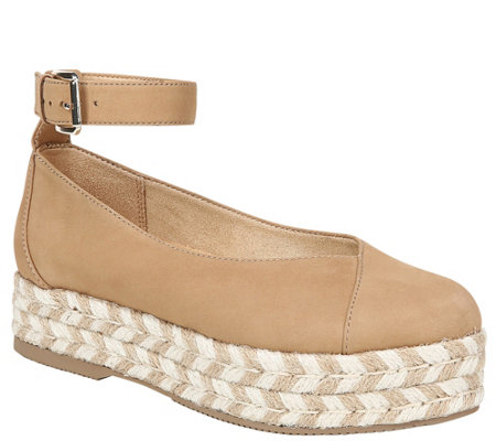 Naturalizer Leather Ankle Strap Espadrilles - Talila
