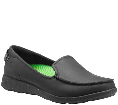 Superfeet Women's Leather Loafer Slip Ons - FirFX