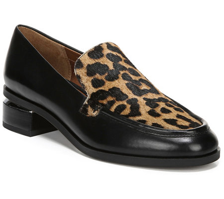 Franco Sarto Leather / Calf Hair Slip-on Loafers - L Newbocca