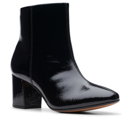 Clarks Collection Block Heel Booties - Chantelle Stone