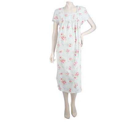 b482d272c915 Carole Hochman Cottage Blooms 100% Cotton Jersey 51-inch Gown - Page ...