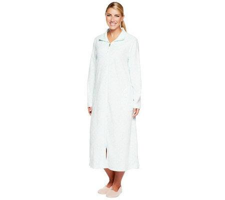 Carole Hochman Fiona Microfleece Zip Front Robe - Page 1 — QVC.com 45aa6eebb