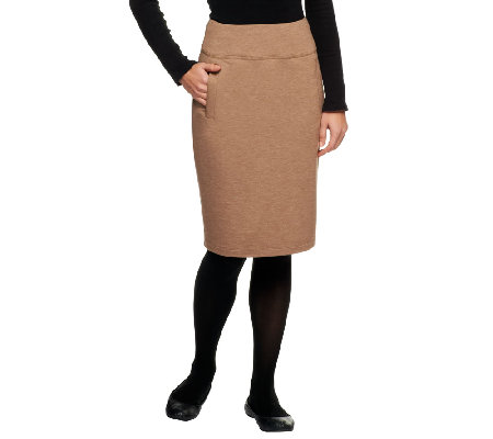 LOGO Lounge by Lori Goldstein French Terry Pull-On Skirt with Pockets