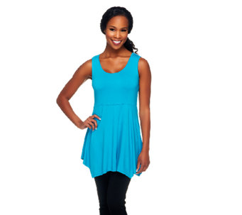 Linea by Louis Dell'Olio Asymmetric Hem Knit Tank Tunic - A254439