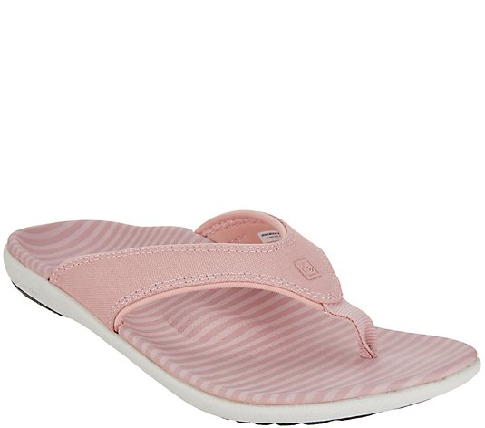 Spenco Orthotic Thong Sandals - Yumi Canvas Stripe